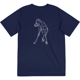 Field Hockey Short Sleeve Performance Tee - Field Hockey Player Sketch