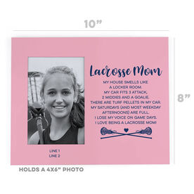 Girls Lacrosse Photo Frame - Lacrosse Mom Poem