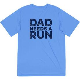 Men's Running Short Sleeve Performance Tee - Dad Needs A Run