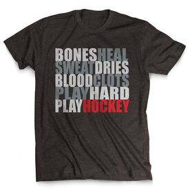 Hockey Tshirt Short Sleeve Bones Saying