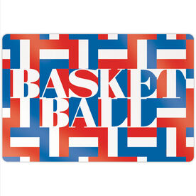 "Basketball 18"" X 12"" Aluminum Room Sign - Basketball Mosaic"