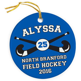 Field Hockey Porcelain Ornament Custom Field Hockey Team