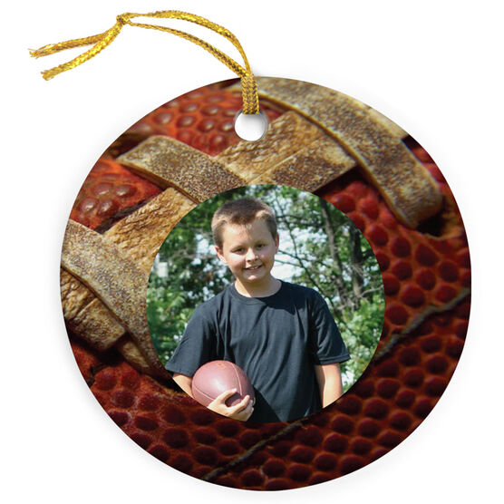 Football Porcelain Ornament Custom Photo