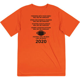 Football Short Sleeve Performance Tee - Football Will Be Back 2020