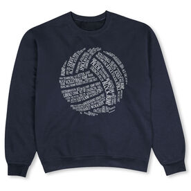 Volleyball Crew Neck Sweatshirt - Volleyball Words