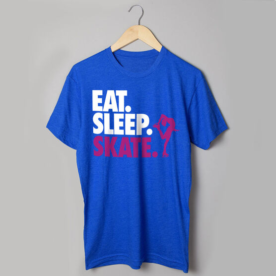 Figure Skating T-Shirt Short Sleeve Eat. Sleep. Skate.