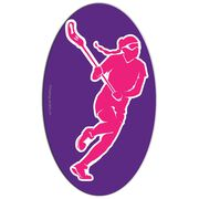 Girls Lacrosse Oval Car Magnet Player