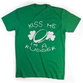 Rugby Tshirt Short Sleeve Kiss Me I'm A Rugger