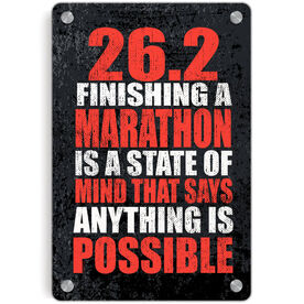 Running Metal Wall Art Panel - 26.2 Anything Is Possible