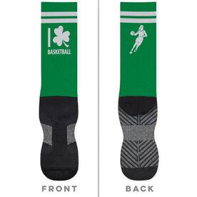 Basketball Printed Mid-Calf Socks - I Shamrock Basketball Girl