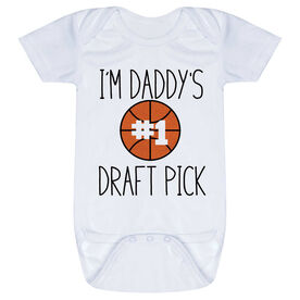 Basketball Baby One-Piece - I'm Daddy's #1 Draft Pick