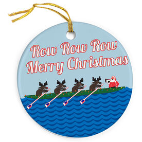 Crew Porcelain Ornament Row Row Merry Christmas