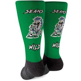 Seams Wild Soccer Printed Mid-Calf Socks - Zipbra
