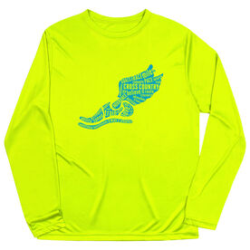 Cross Country Long Sleeve Performance Tee - Winged Foot Inspirational Words