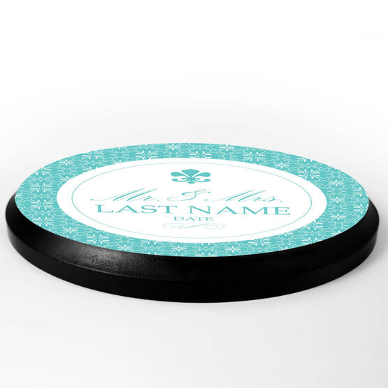 Personalized Circle Plaque - Mr. And Mrs. Elegant