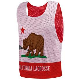 Guys Lacrosse Pinnie - California Flag