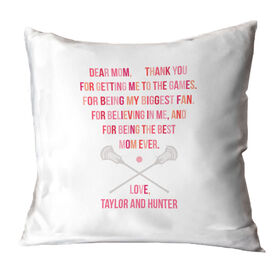 Guys Lacrosse Throw Pillow - Dear Mom Heart