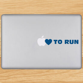 Heart To Run Removable GoneForaRunGraphix Laptop Decal