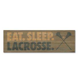 "Guys Lacrosse 12.5"" X 4"" Printed Bamboo Removable Wall Tile - Eat Sleep Lacrosse"