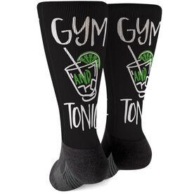Cross Training Printed Mid-Calf Socks - Gym And Tonic