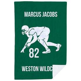 Football Premium Blanket - Personalized Linebacker