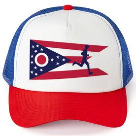 Running Trucker Hat - Ohio Flag Male Runner