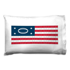 Rugby Pillowcase - American Flag
