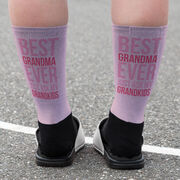 Printed Mid-Calf Socks - Best Grandma Ever