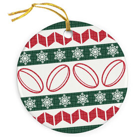 Rugby Porcelain Ornament Ugly Sweater