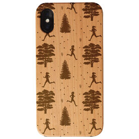 Running Engraved Wood IPhone® Case - Running Through The Trees Female