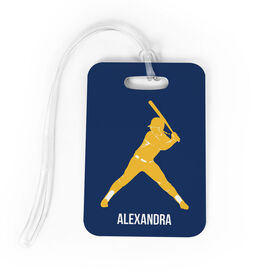 Softball Bag/Luggage Tag - Personalized Softball Batter