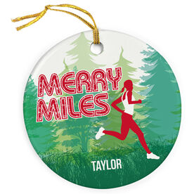 Running Porcelain Ornament Merry Miles Female