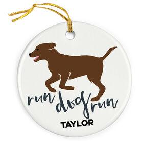 Running Porcelain Ornament Run Dog Run