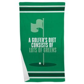 Golf Beach Towel Golfer's Diet