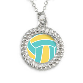 Braided Circle Necklace Volleyball