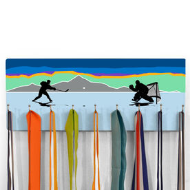 Hockey Hooked on Medals Hanger - Pond Hockey