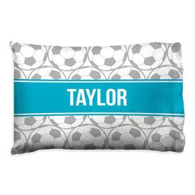 Soccer Pillowcase - Personalized Ball Pattern