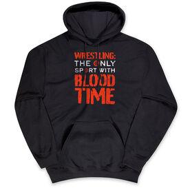 Wrestling Hooded Sweatshirt - Blood Time