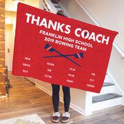 Crew Premium Blanket - Thanks Coach (Horizontal)