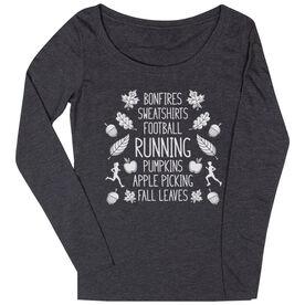 Women's Runner Scoop Neck Long Sleeve Tee - Fall Running