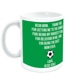 Soccer Coffee Mug - Dear Mom Heart