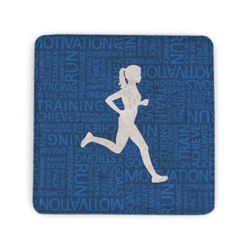 Running Stone Coaster - Inspirational Words Female