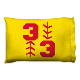 Softball Pillowcase - Three Up Three Down
