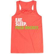 Field Hockey Flowy Racerback Tank Top - Eat Sleep Field Hockey