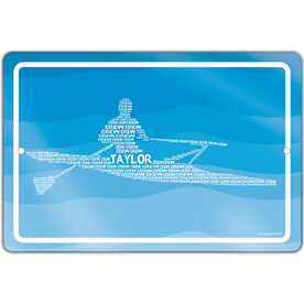 "Crew 18"" X 12"" Aluminum Room Sign Personalized Crew Words Guy"