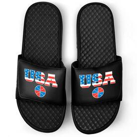 Basketball Black Slide Sandals - USA Basketball