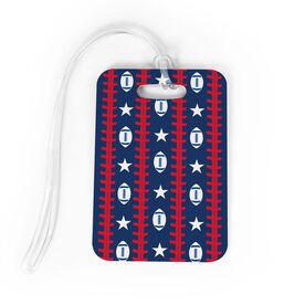 Football Bag/Luggage Tag - Patriotic Pattern