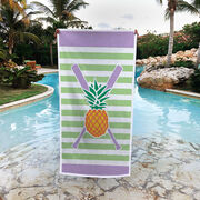 Softball Premium Beach Towel - Pineapple Stitches