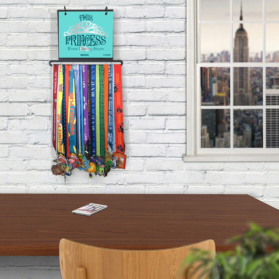 BibFOLIO+™ Race Bib and Medal Display This Princess Wears Running Shoes