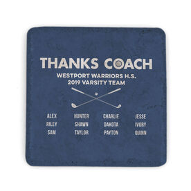 Golf Stone Coaster - Thanks Coach Roster